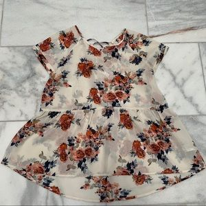 Floral Short-sleeve T-Shirt 🌸 Size S